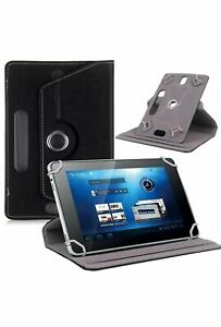 """Black 360° Folio Leather Case Cover Stand For Android Tablet PC 7"""" 8"""" 9"""" 10""""10.1"""