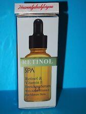 NIB Spa Cosmetics Spa Retinol & Vitamin E Enriching Serum w/Added Vit. C, 1fl.oz