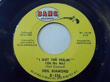 Neil Diamond I Got The Feelin' / The Boat I Row 45 Bang Vinyl Record