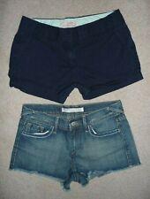 Lot J.Crew Navy chinos & Old Navy cut-off jean denim short shorts Size 2 Womens