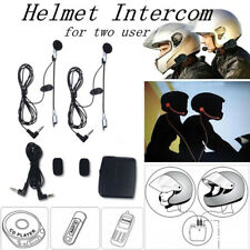 Motorcycle Helmet Interphone Walkie Talkie Communication Intercom Headphon_cx