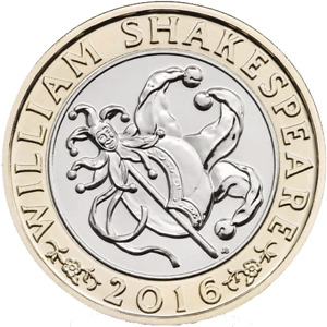 2016 WILLIAM SHAKESPEARE COMEDIES £2 COIN | FREE DELIVERY