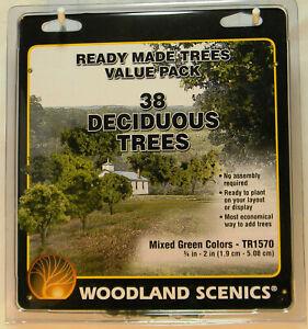Woodland Scenics TR1570 38 Deciduous Trees Value Pack Mixed Colors