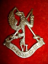 6th Duke of Connaught's Royal Canadian Hussars Cap Badge, Theatre made WW2