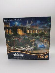 Thomas Kinkade 750 Jigsaw Puzzle Disney Cinderella Ceaco Clock Strikes Midnight