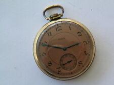 7 Jewel Tan Dial Pocket Watch 1937 Elgin Elgin 10K Rolled Gold Plate