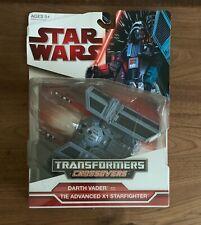 NEW 2009 Star Wars Transformers Crossovers DARTH VADER to Advanced STARFIGHTER