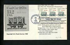 Ranto Cachet US FDC #2259 Coal Car train Plate #1 Coil Strip Bulk Rate 1988