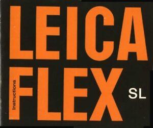 Leica Leicaflex SL Instruction Manual Original 1969