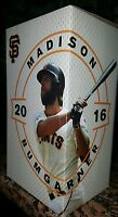 MADISON BUMGARNER San Francisco Giants Bobblehead 2016 NIB BOBBLE w/ Program WoW