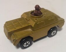 Matchbox Rolamatics Stoat Tan Military Tank Vintage 1973 #28 DIecast - NICE