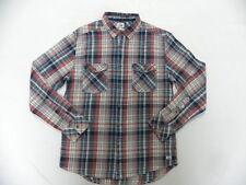 Quiksilver Sunset Visitors L/S Modern Fit Chest Pocket Woven Shirt Sz Medium