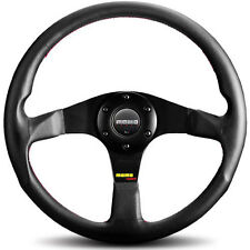 MOMO TUNER STEERING WHEEL: 350mm (BLACK W/ RED STITCHING) TUN35BK0B