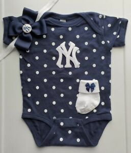 Yankees infant/baby girl clothes girl Yankees toddler Yankees baby gift girl