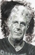 Anthony Bourdain Limited Edition Print Wall Art Portrait Memorial Painting 17""