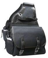 Showman BLACK 600 Denier Deluxe Insulated Nylon Saddle Bag!!! NEW HORSE TACK!!!