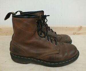 Dr Martens Brown Leather 1460 Lace Up Boots Air Wair Size UK 9 / EUR 43 (Hol)