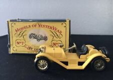 1961 MATCHBOX YESTERYEAR Y-7 MERCER 1913 RACEABOUT TYPE 35-J DIE CAST METAL TOY