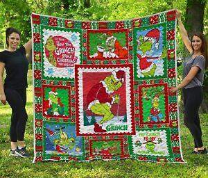 The Grinch Christmas – Premium Home Decor – Quilt, Fleece Blanket Printer In US