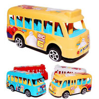 School Bus Diecast Plastic Model Pull Back Educational Toy Child Birthday Gift