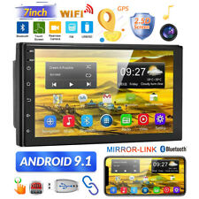7'' Android 9.1 2 Din GPS Navi Car Stereo Radio Bluetooth FM USB/AUX-in WIFI