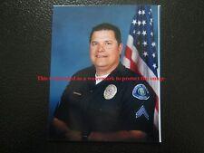 Vtg 2000 Portrait Photo of Middle Aged Guy Police Man In Uniform R22