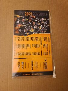 Pittsburgh Steelers 2021 Official Magnetic Schedule Lot of 2