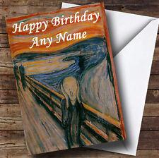 The Scream Painting Personalised Birthday Greetings Card