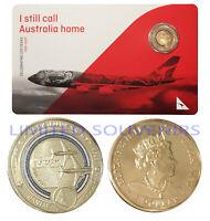 2020 $1 Qantas Centenary Coloured Coin Still call Australia Home NEW SEALED