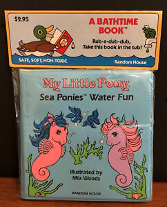 Vintage My Little Pony Sea Ponies Water Fun Bathtime Book Hasbro 1985 Sealed