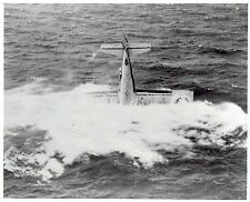 1942 Vintage Photo US Marine Corps Fighter Plane Aircraft crash in the ocean WW2