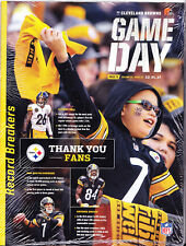 Pittsburgh Steelers Cleveland Browns Gameday Program Bell Ben Antonio Brown