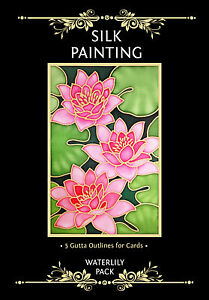 Silkcraft Silk Painting Gutta Outlines- Card Making - Waterlily Pack (pack of 5)