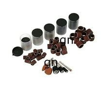 206PC Drum Sanding Band Sheets Wheels & Cutting Disc Bit Set Most Rotary Drill