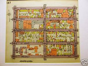 Brooklyn Map 1929 BEDFORD ALBANY PACIFIC PROSPECT Matted