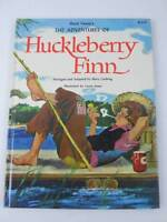 Adventures of Huckleberry Finn Vintage Children's Glossy Hardcover Book