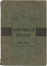 Dartmouth College Class of 1880 - Old 1916 Reunion Booklet