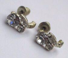 Boucle d'oreille clou anneaux couleur argent pierre cristal diamant strass 2549