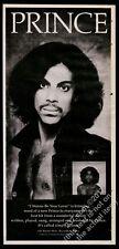 1980 Prince photo debut album release vintage print ad