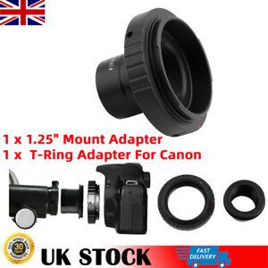 Black Camera Lens Adapter T-Ring for Canon DSLR/SLR+ 1.25in Telescope Mount Tube