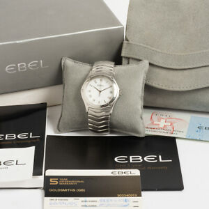 Ebel Classic Wave Ref E9187F41.  Gents Size. Box & Papers.