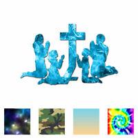 Family Kneeling Prayer - Decal Sticker - Multiple Patterns & Sizes - ebn3409