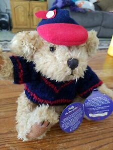 "Pickford Brass Button Bears Collection TULLY The Bear of Joy Baseball 10"" Plush"