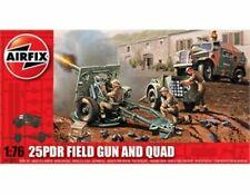 Airfix 1:76 25PDR Field Gun & Quad Military Model Kit A01305