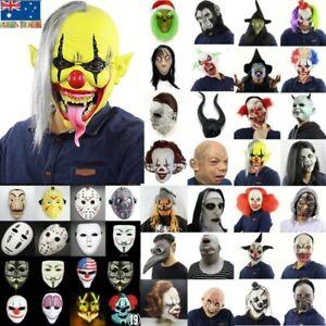 Cosplay Costume Horror Halloween Scary Mask Bloody Zombie Clown Fancy Dress AU