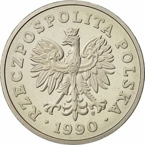 [#429225] Poland, 50 Zlotych, 1990, Warsaw, MS(65-70), Copper-nickel, KM:216