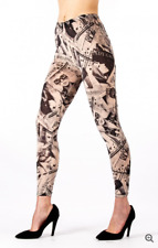 Good quality, fashionable, Lady Gaga, newspaper print style Leggings