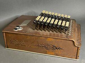 Vtg Antique Comptometer Felt & Tarrant Mfg Chicago Adding Machine 1914? Works