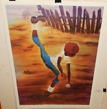 """ANNIE LEE """"FULL COUNT 3 & 2"""" COLOR OFFSET LITHOGRAPH"""