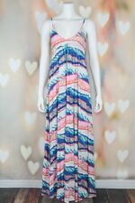 e866911d7b39 Boho  roxy  Love My Sol Abstract Striped Cotton Beach Sun Maxi Dress M